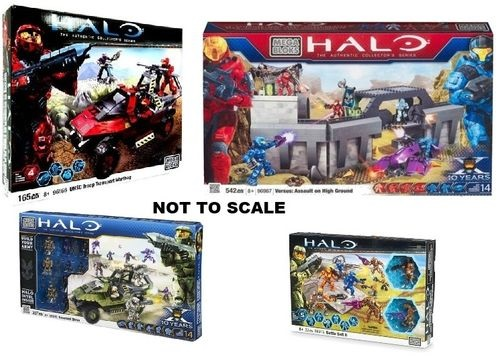 Halo Mega Bloks Autsralia Exclusive Goodness Bundle officially licensed Halo Mega Bloks product at B.A. Toys.