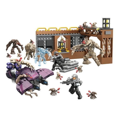 Halo Mega Bloks Flood Invasion officially licensed Halo Mega Bloks product at B.A. Toys.