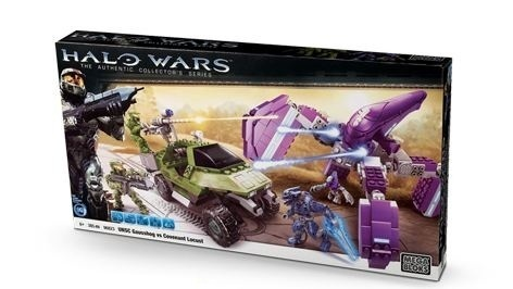 Halo Mega Bloks Gausshog vs. Covenant Locust officially licensed Halo Mega Bloks product at B.A. Toys.