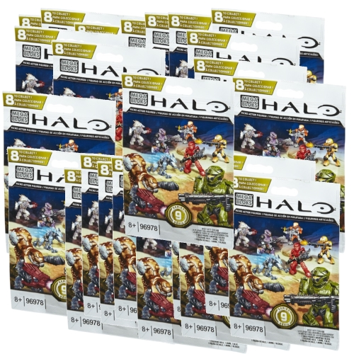 Halo Mega Bloks Series 9 Factory Sealed Case officially licensed Halo Mega Bloks product at B.A. Toys.
