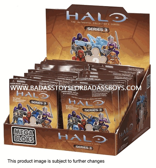 Halo Mega Bloks Series 3 Mystery Pack officially licensed Halo Mega Bloks product at B.A. Toys.