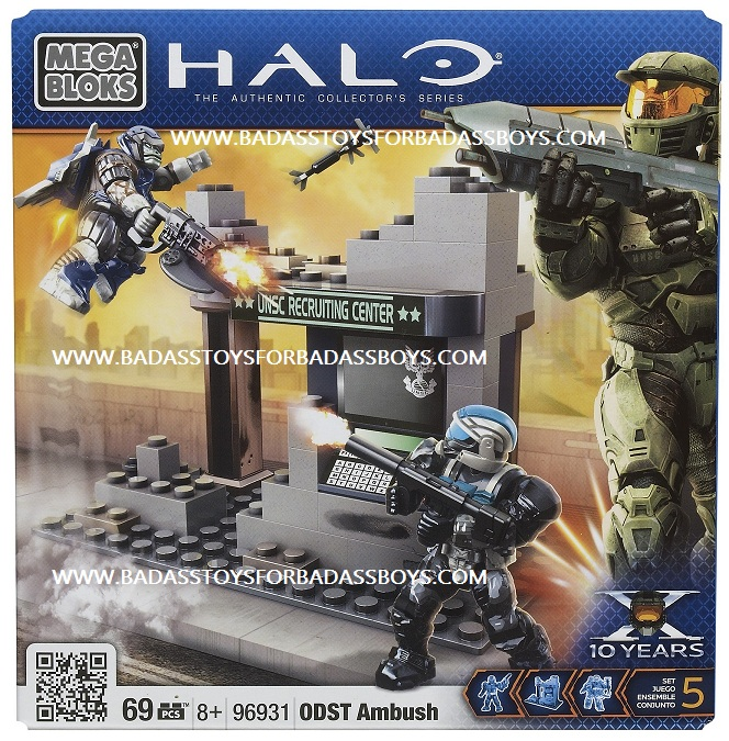 Halo Mega Bloks ODST Ambush officially licensed Halo Mega Bloks product at B.A. Toys.