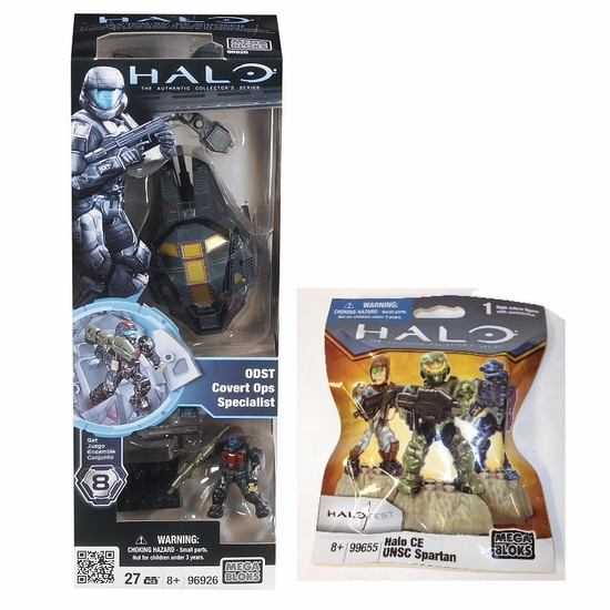 Halo Mega Bloks ODST Covert Ops   Specialist 96926 & 2011 Halo Fest CE UNSC Spartan 99655 officially licensed Halo Mega Bloks product at B.A. Toys.