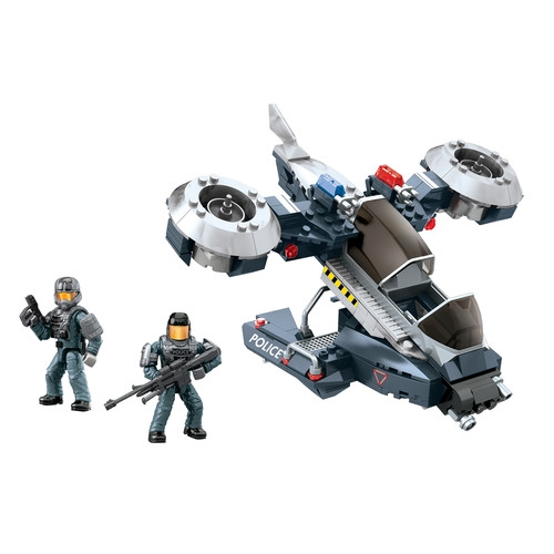 Halo Mega Bloks Police Air Support Hornet officially licensed Halo Mega Bloks product at B.A. Toys.