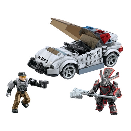 Halo Mega Bloks Police Cruiser Standoff officially licensed Halo Mega Bloks product at B.A. Toys.