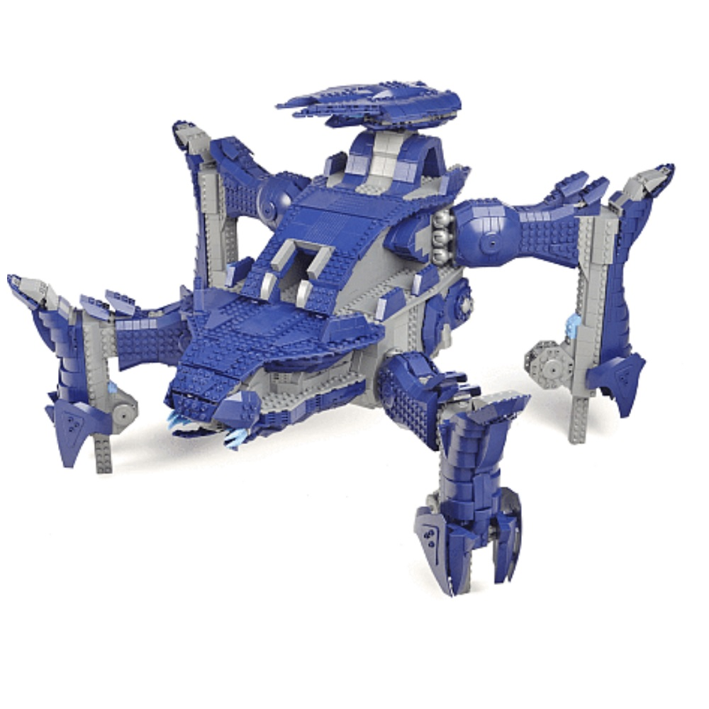 Halo Mega Bloks Scarab, Signature Series Halo Set Scarab Lego buildilng block compatible.