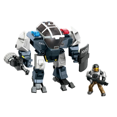 Halo Mega Bloks Sector 12 Police Cyclops officially licensed Halo Mega Bloks product at B.A. Toys.