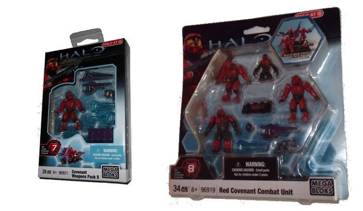Mega Bloks Exclusive 96921 Weapons Pack II and 96919 Red Covenant Unit Set officially licensed Mega Bloks Exclusive product at B.A. Toys.