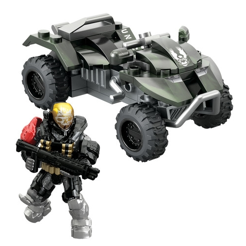Halo Mega Bloks UNSC All-Terrain Mongoose officially licensed Halo Mega Bloks product at B.A. Toys.