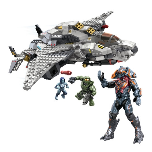 2014 Halo Mega Bloks UNSC Broadsword Midnight [Master Chief, Cortana & Didact!] is an officially licensed, authentic Halo Mega Bloks product at B.A. Toys featuring UNSC Broadsword Midnight [Master Chief, Cortana & Didact!] by Halo Mega Bloks