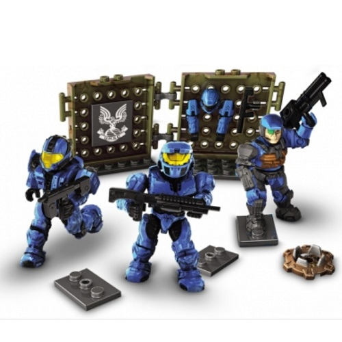 Halo Mega Bloks UNSC Cobalt Combat Unit officially licensed Halo Mega Bloks product at B.A. Toys.