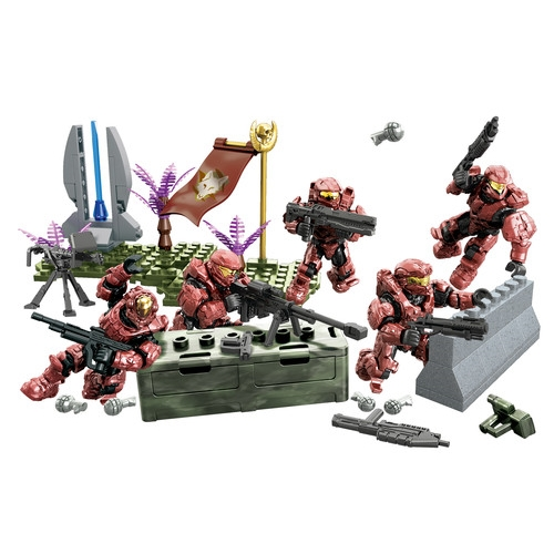 Halo Mega Bloks UNSC Fireteam Crimson Battle Pack officially licensed Halo Mega Bloks product at B.A. Toys.