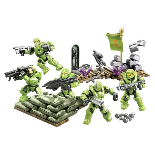 Halo Mega Bloks UNSC Fireteam Venom Battle Pack officially licensed Halo Mega Bloks product at B.A. Toys.