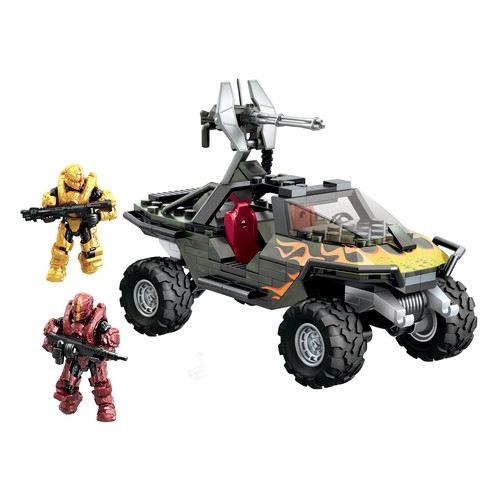 Halo Mega Bloks UNSC Flame Warthog officially licensed Halo Mega Bloks product at B.A. Toys.