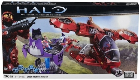 Halo Mega Bloks Exclusive UNSC Hornet Attack officially licensed Halo Mega Bloks Exclusive product at B.A. Toys.