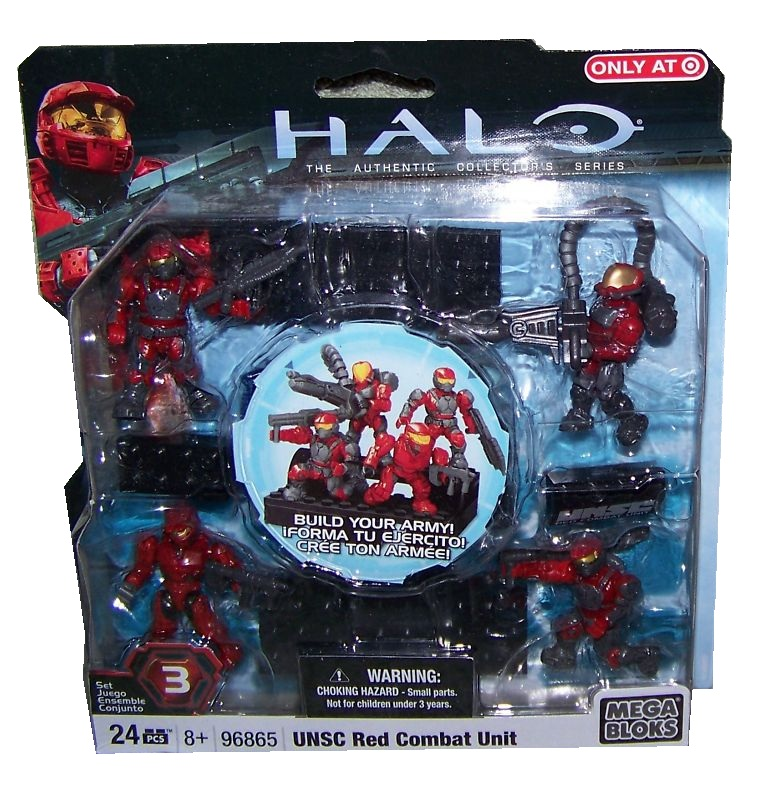 Halo Mega Bloks Exclusive UNSC Red Combat Unit officially licensed Halo Mega Bloks Exclusive product at B.A. Toys.