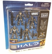 Halo Mega Bloks UNSC Silver Combat Unit officially licensed Halo Mega Bloks product at B.A. Toys.