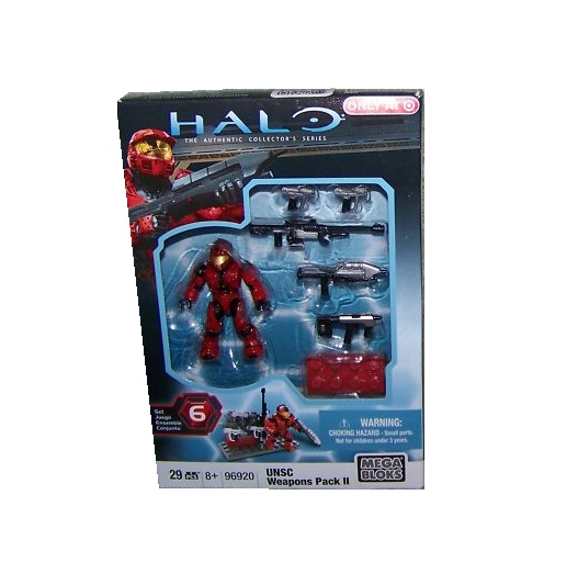 Halo Mega Bloks UNSC Weapons Pack II officially licensed Halo Mega Bloks product at B.A. Toys.