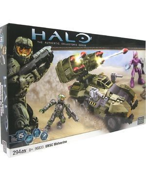 Halo Mega Bloks UNSC Wolverine Camo Green officially licensed Halo Mega Bloks product at B.A. Toys.