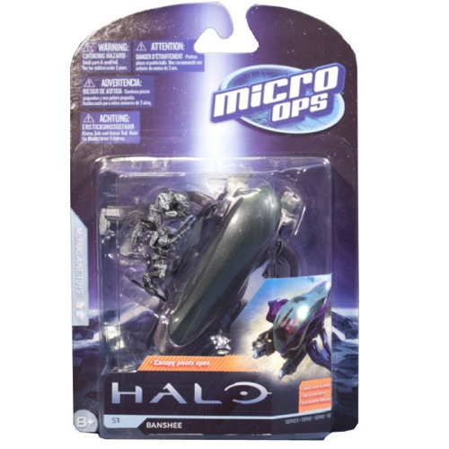 McFarlane Halo Micro Ops Series 1 Banshee officially licensed McFarlane Halo product at B.A. Toys.