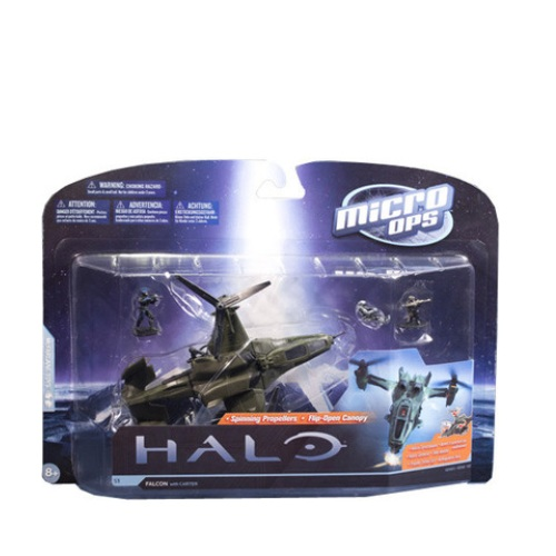 McFarlane Halo Micro Ops Series 1 Falcon with Carter officially licensed McFarlane Halo product at B.A. Toys.