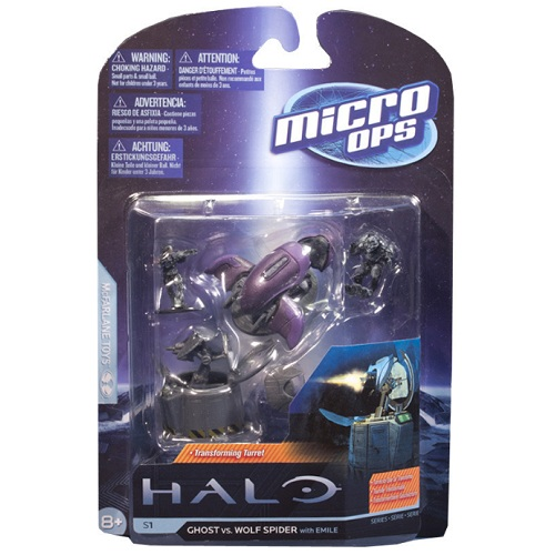 McFarlane Halo Micro Ops Series 1 Ghost vs. Wolf Spider officially licensed McFarlane Halo product at B.A. Toys.