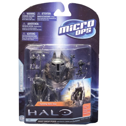 McFarlane Halo Micro Ops Series 1 ODST Drop Pods officially licensed McFarlane Halo product at B.A. Toys.