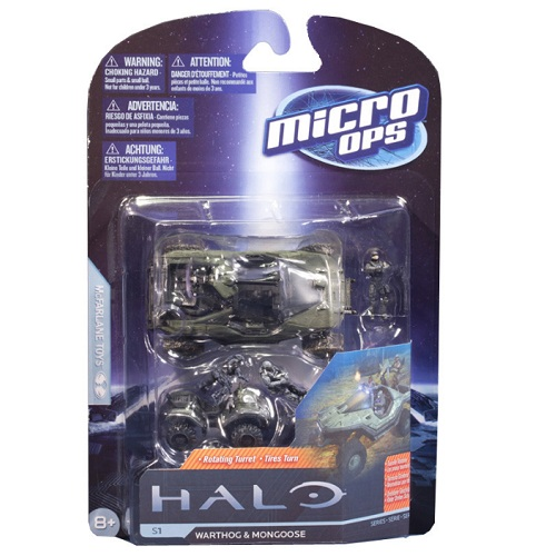 McFarlane Halo Micro Ops Series 1 Warthog and Mongoose officially licensed McFarlane Halo product at B.A. Toys.