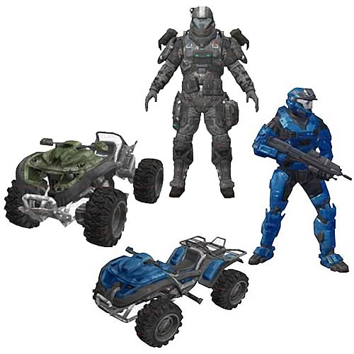 McFarlane Halo Reach Exodus Rocket Race Mongoose Vehicle Box Set officially licensed McFarlane Halo Reach product at B.A. Toys.