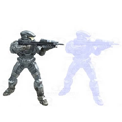 McFarlane Halo Reach 2 Pack Noble Six and Noble Six Hologram Figures officially licensed McFarlane Halo Reach product at B.A. Toys.