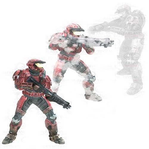 McFarlane Halo Reach Series 4 Spartan Stalker Action Figure 3-Pack officially licensed McFarlane Halo Reach product at B.A. Toys.