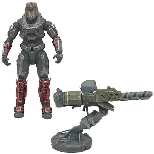 McFarlane Halo Reach Warthog Gauss Cannon and Spartan officially licensed McFarlane Halo Reach product at B.A. Toys.