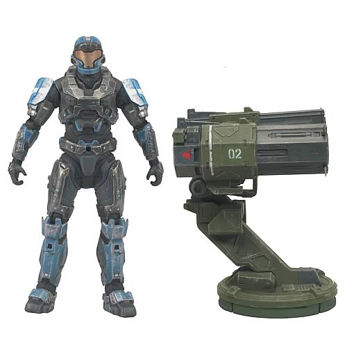 McFarlane Halo Reach Warthog Rocket Launcher with custom Spartan JFO officially licensed McFarlane Halo Reach product at B.A. Toys.