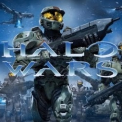 Halo Soldier, an ominous figure with an Assault Rifle, leading other Halo Troops into battle.