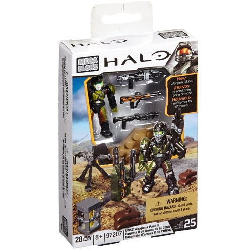 Mega Bloks Halo UNSC Weapons Pack II officially licensed Mega Bloks Halo product at B.A. Toys.