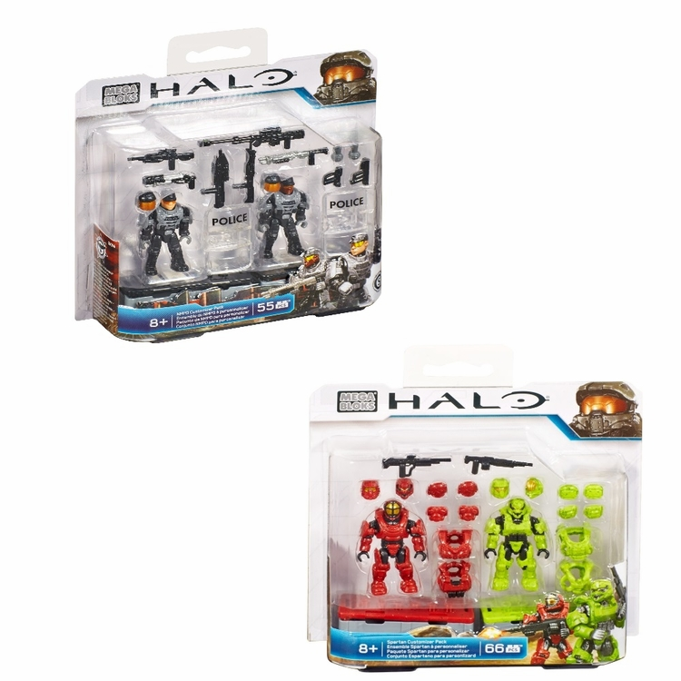 2015 Halo Mega Bloks Customizer Bundle [NMPD Pack & Spartan Pack] officially licensed Mega Bloks Halo product at B.A. Toys.