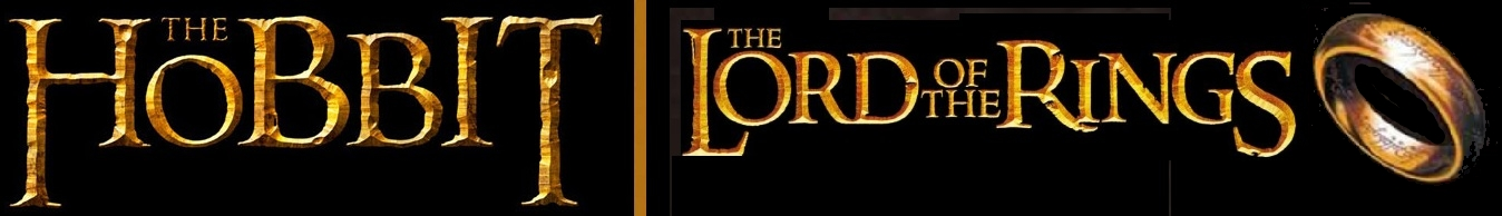 toy banner featuring hobbit logo & lord of the rings lotr sign logo