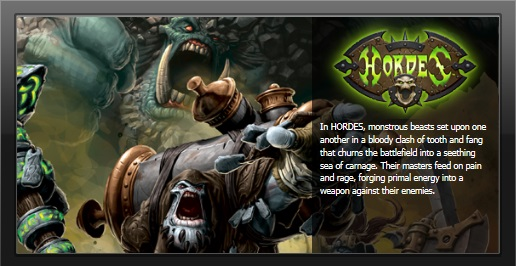 Hordes table top miniature game by Privateer Press.