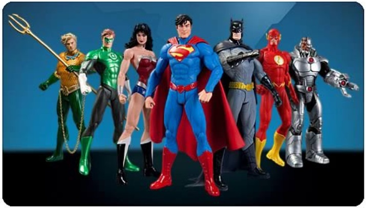 Justice League New 52 7-Pack Action Figure Box Set officially licensed Justice League product at B.A. Toys.