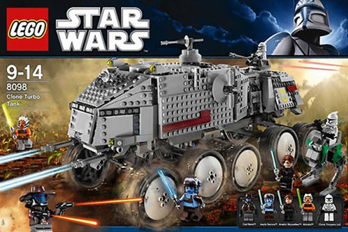 Lego Star Wars Clone Turbo Tank 8098 officially licensed Lego Star Wars product at B.A. Toys.