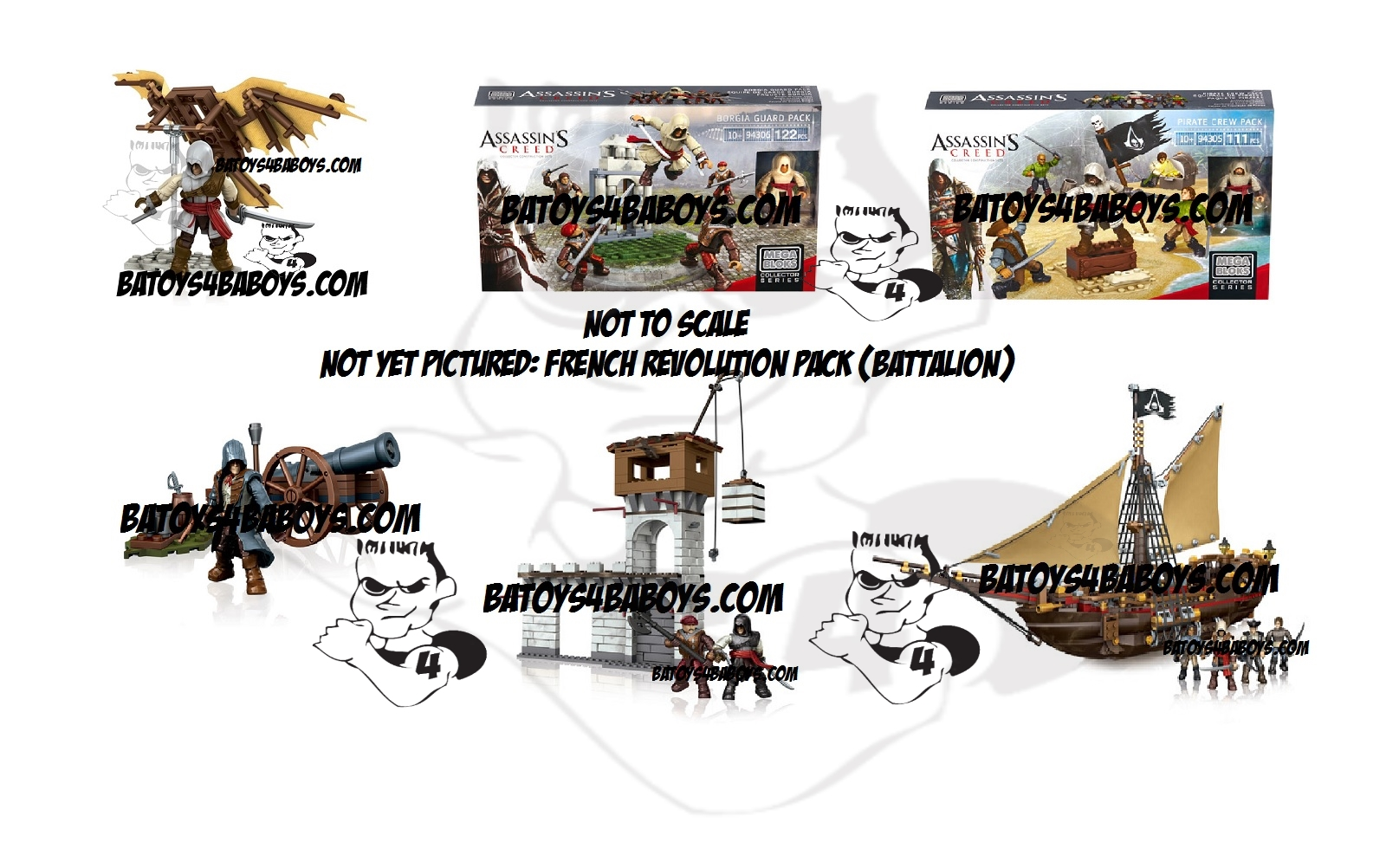 2014 Mega Bloks Assassin's Creed B.A. Toys 2014 Fall ACMB Blitz Bundle