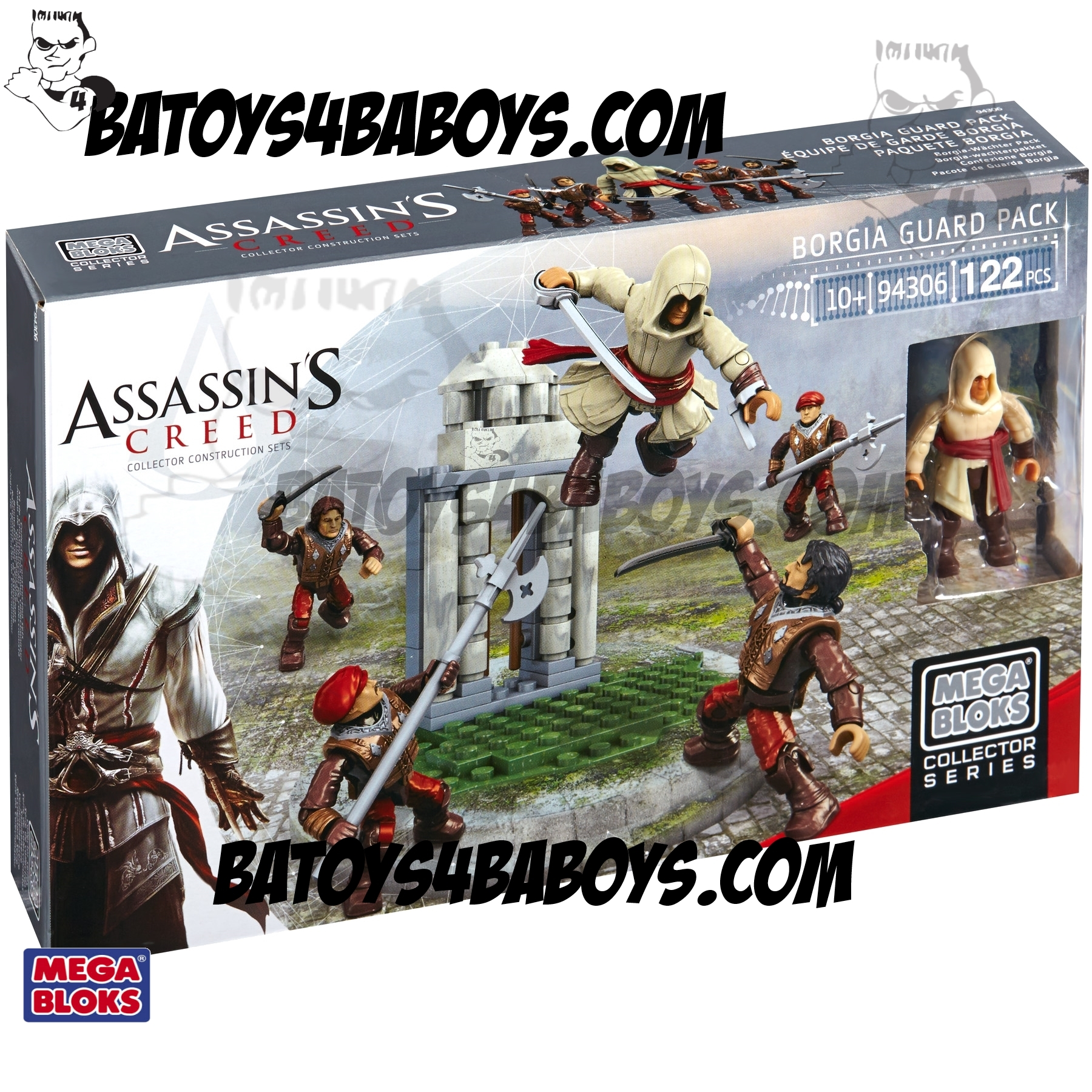 2014 Mega Bloks Assassin's Creed Borgia Guard [Faction Battlion Crew] Pack officially licensed Mega Bloks Assassin's Creed product at B.A. Toys.