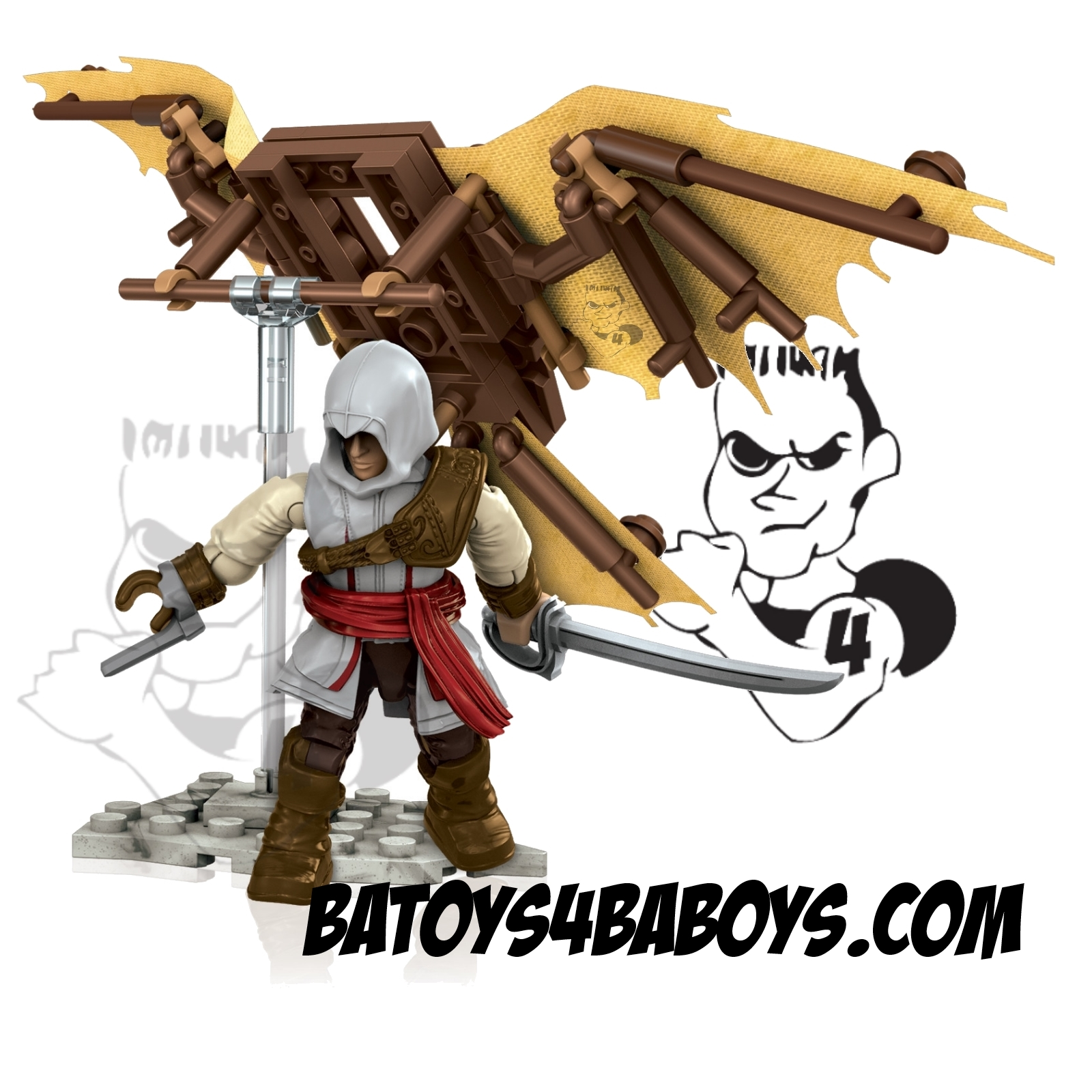 2014 Mega Bloks Assassin's Creed Da Vinci's Flying Machine officially licensed Mega Bloks Assassin's Creed product at B.A. Toys.