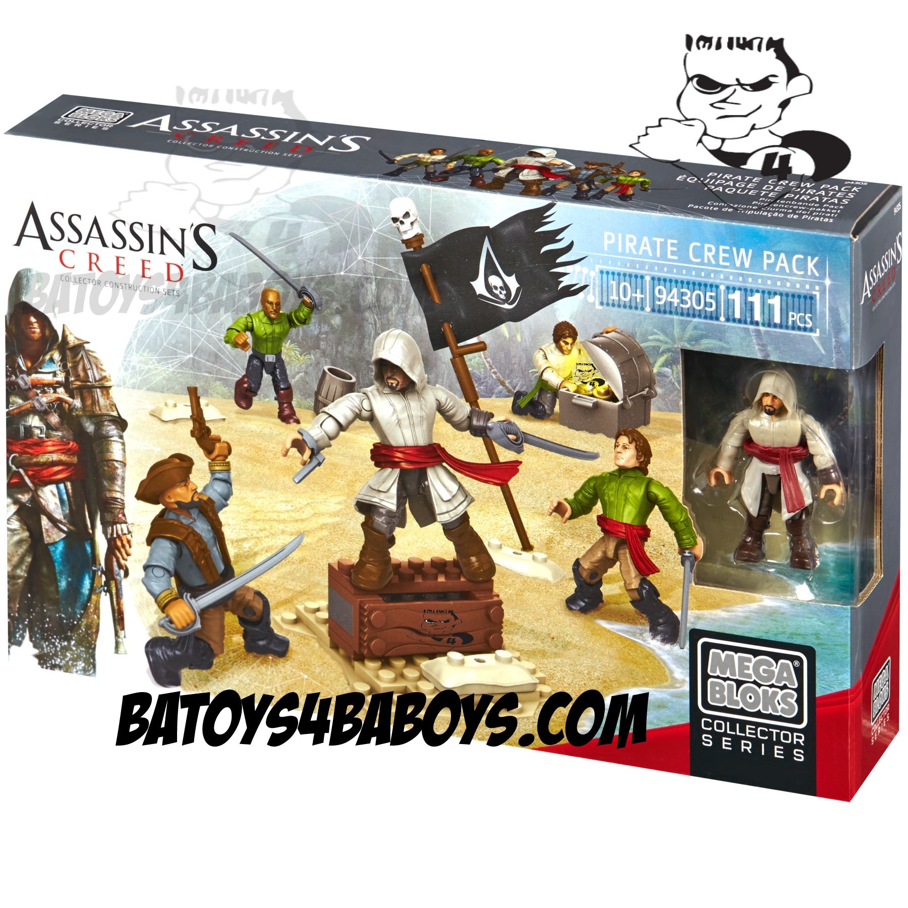 2014 Mega Bloks Assassin's Creed Pirate Crew Pack officially licensed Mega Bloks Assassin's Creed product at B.A. Toys.