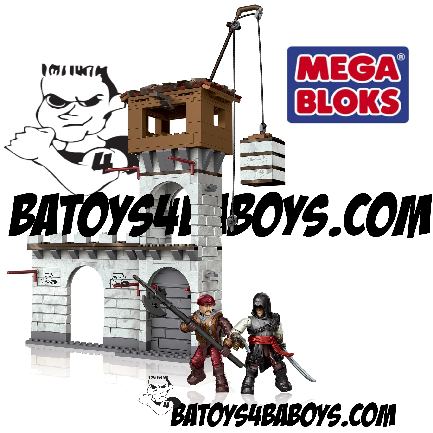 2014 Mega Bloks Assassin's Creed Fortress Attack [Siege of Monteriggioni]
