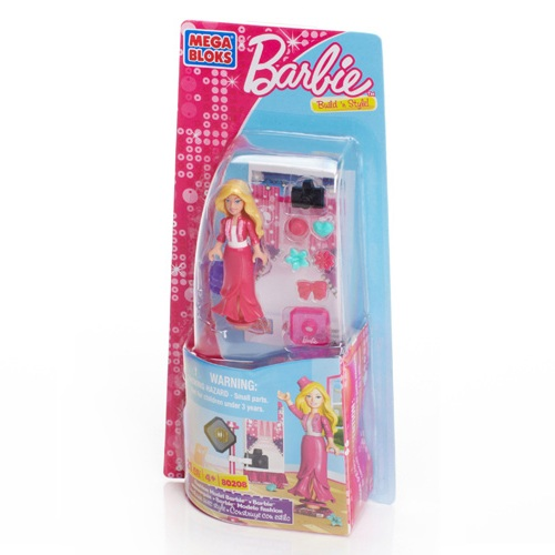 Mega Bloks Barbie Fashion Model Barbie officially licensed Mega Bloks Barbie product at B.A. Toys.