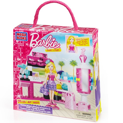Mega Bloks Barbie Build 'n Style fashion Stand officially licensed Mega Bloks Barbie product at B.A. Toys.