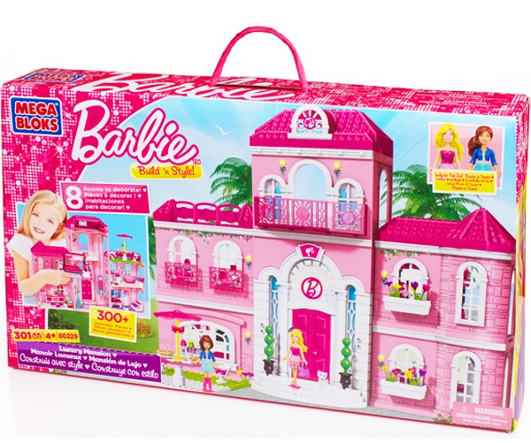 Mega Bloks Barbie Luxury Mansion officially licensed Mega Bloks Barbie product at B.A. Toys.
