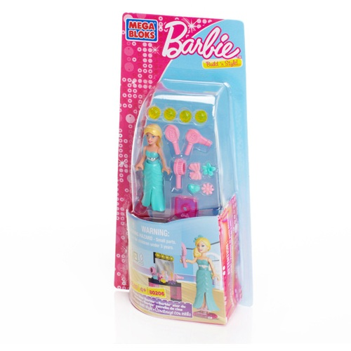 Mega Bloks Barbie Movie Star Barbie officially licensed Mega Bloks Barbie product at B.A. Toys.