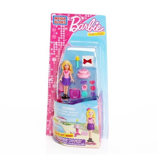 Mega Bloks Barbie Party Time Barbie officially licensed Mega Bloks Barbie product at B.A. Toys.